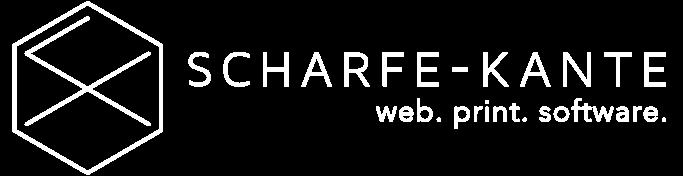 SCHARFE KANTE - Logo weiss