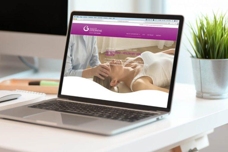 Osteopathie - Website und Printmedien Referenz - Sascha Fenrich